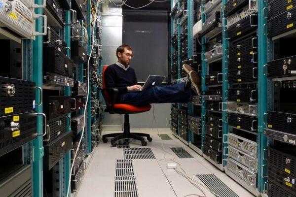 network engineer working